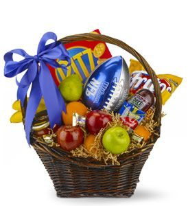 Goalpost Goodies Basket - Sweet Lilys Flowers