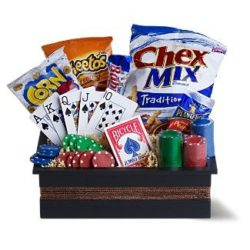 Poker Night Basket - Sweet Lilys Flowers